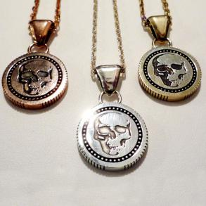 ≪Ark/アーク ≫ スカル&クロスペンダントreverse coin pendant ARKN-0038