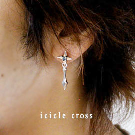 ≪cooldust≫icicle cross  ピアス CD-002